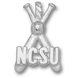 North Carolina State 7/8in Sterling Bats Pendant