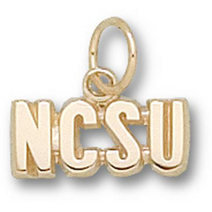 North Carolina State Wolfpack 3/16in 14k Pendant