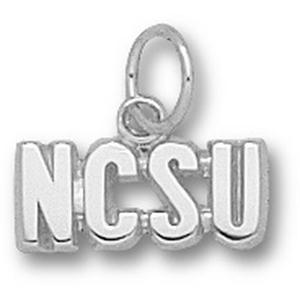 Sterling Silver 3/16in North Carolina State NCSU Pendant
