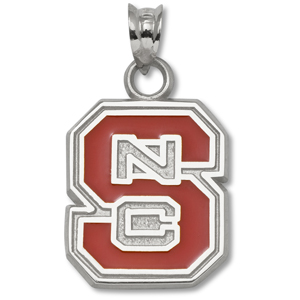 Sterling Silver 5/8in North Carolina State Enamel Pendant