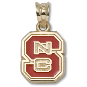 14kt Yellow Gold 3/8in North Carolina State Enamel Charm