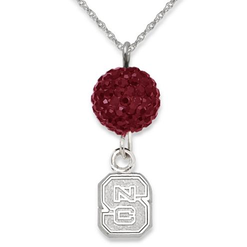 North Carolina State University Crystal Ovation Necklace
