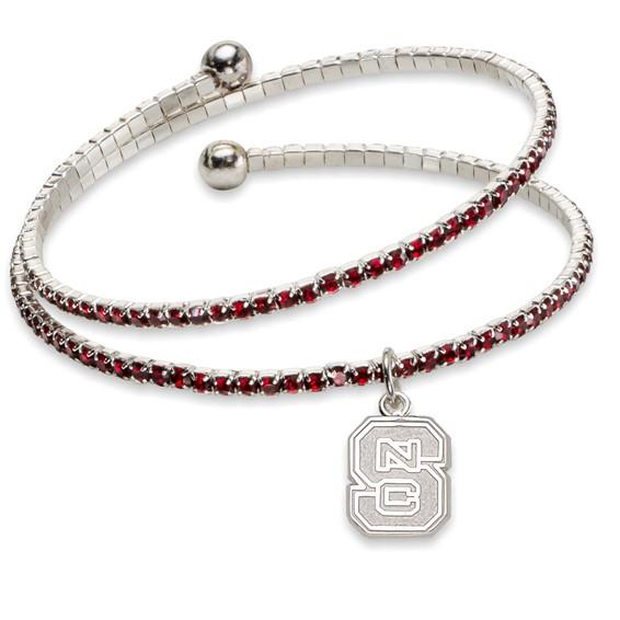 North Carolina State University Amped Logo Crystal Bracelet