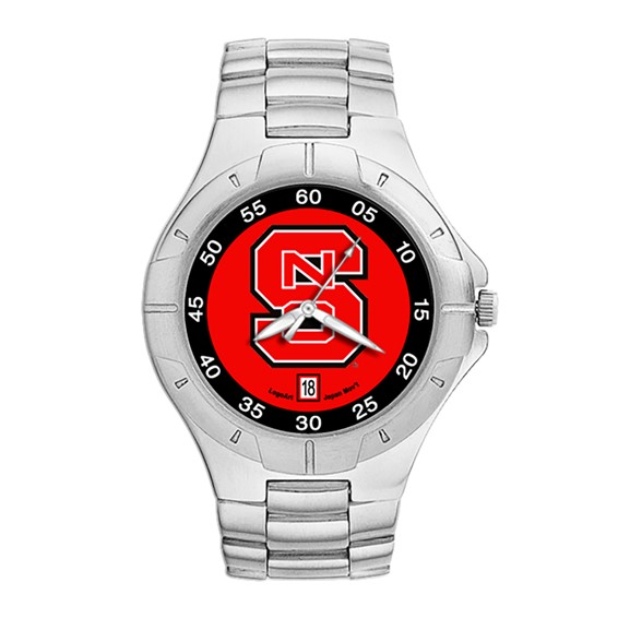 North Carolina State Wolfpack Mens Stainless Pro II Watch