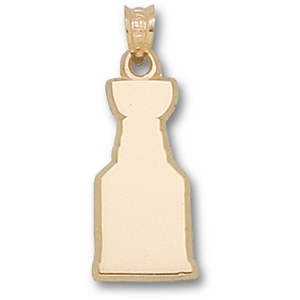 14kt Yellow Gold 3/4in Stanley Cup Logo Pendant