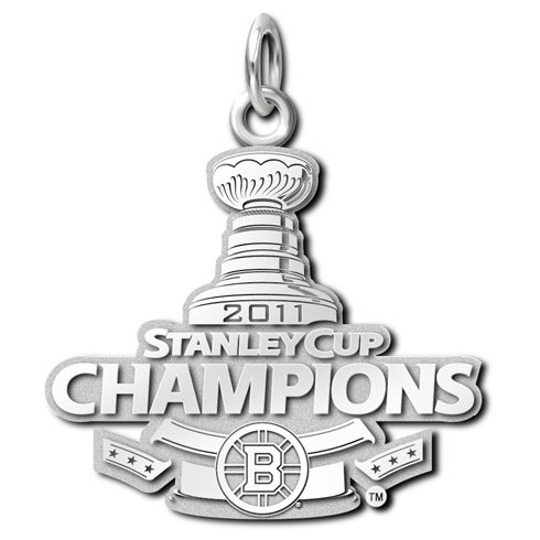 Boston Bruins 15/16in 2011 Champions Pendant Sterling Silver