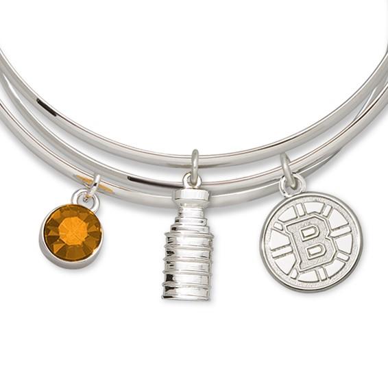 Boston Bruins 15/16in 2011 Champions Pendant Sterling Silver