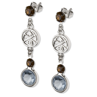 Denver Nuggets Crystal Logo Earrings