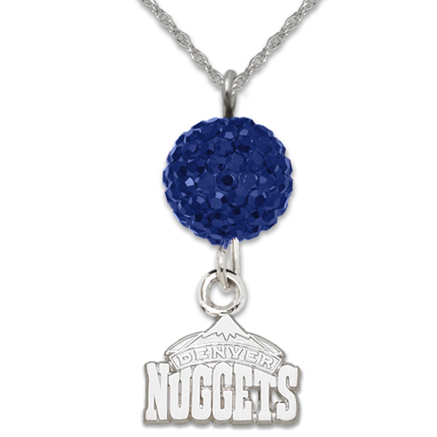 Sterling Silver Denver Nuggets Ovation Necklace