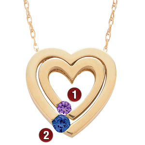 Nesting Heart Necklace