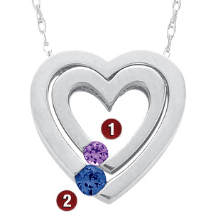 Sterling Silver Nesting Heart Necklace