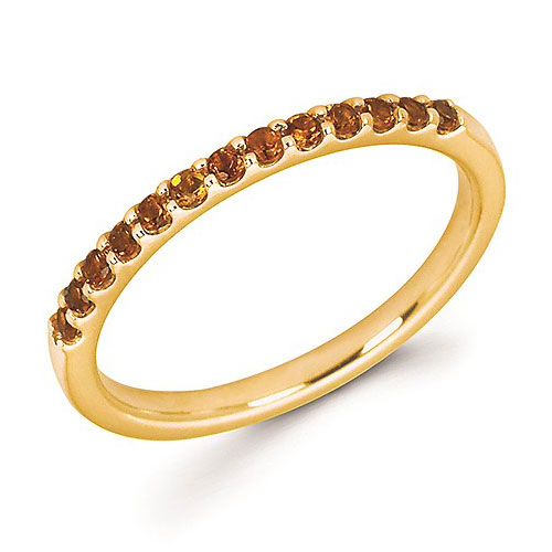 14k Yellow Gold 1/5 ct Stackable Citrine Ring