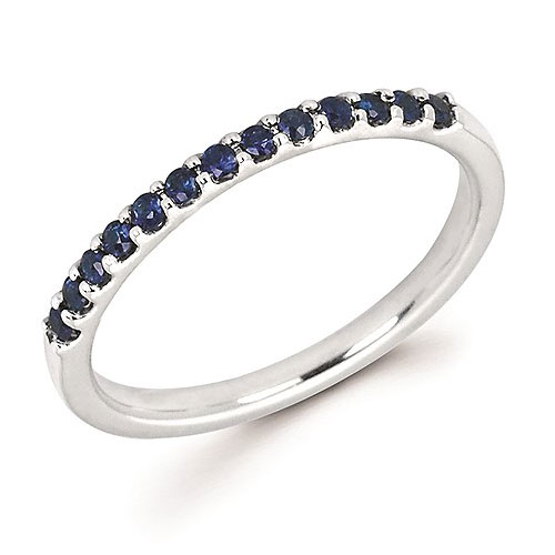 14k White Gold Stackable 1/4 ct Sapphire Ring