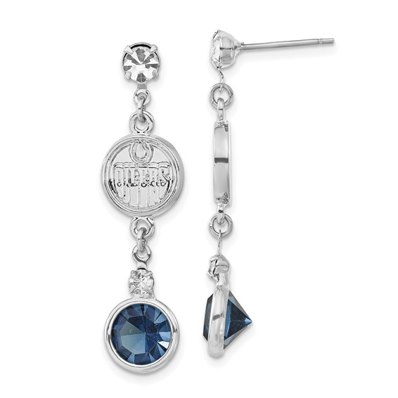 Edmonton Oilers Crystal Logo Earrings