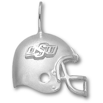 OSU 3/4in Football Pendant Sterling Silver