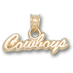 OSU Cowboys 1/2in Pendant 10kt Yellow Gold