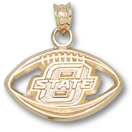 OSU Football Pendant 14kt Yellow Gold