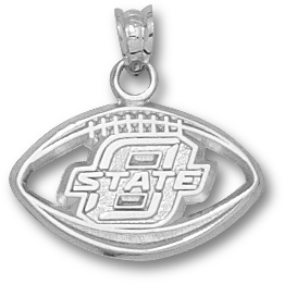 Sterling Silver Oklahoma State Football Pendant