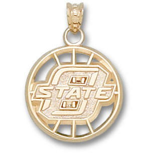 OSU Basketball Pendant 14kt Yellow Gold
