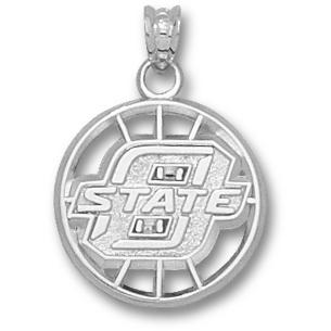 OSU Basketball Pendant Sterling Silver