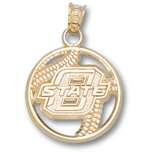 OSU Baseball Pendant 10kt Yellow Gold