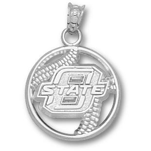 OSU Baseball Pendant Sterling Silver
