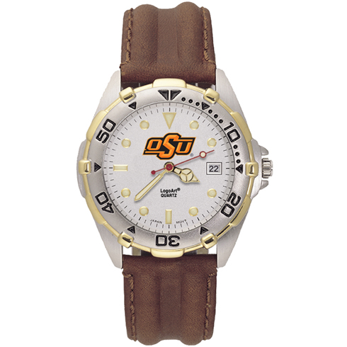 Oklahoma State All Star Leather Mens Watch
