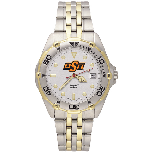 Oklahoma State All Star Stainless Steel Mens Watch