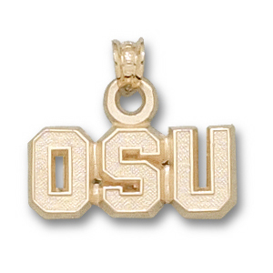 Oregon State Beavers 5/16in 14k Pendant