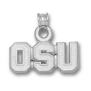 Oregon State Beavers 5/16in Sterling Silver Pendant