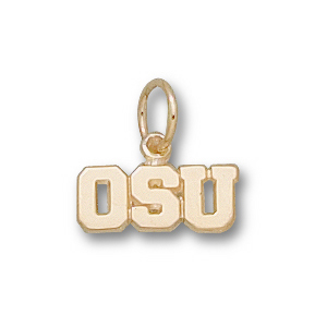 14kt Yellow Gold 3/16in Oregon State OSU Charm
