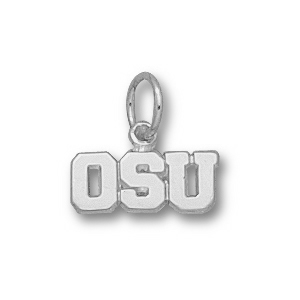 Sterling Silver 3/16in Oregon State OSU Charm