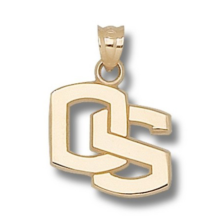 Oregon State Beavers 5/8in 14k OS Pendant