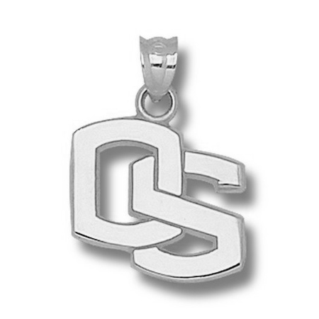 Oregon State Beavers 5/8in Sterling Silver OS Pendant