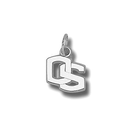 Oregon State Beavers 3/8in Sterling Silver OS Charm