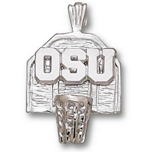 Ohio State Buckeyes 5/8in Sterling Silver Backboard Pendant
