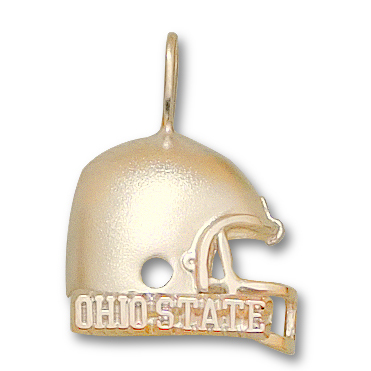 Ohio State Buckeyes 3/4in 14k Helmet Pendant