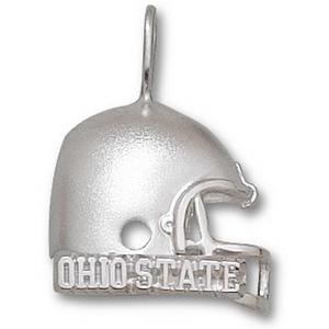 Ohio State Buckeyes 3/4in Sterling Silver Helmet Pendant