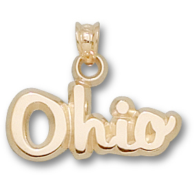 Ohio State 3/8in Charm 10kt Yellow Gold