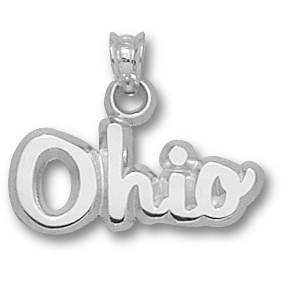 Ohio State 3/8in Charm Sterling Silver
