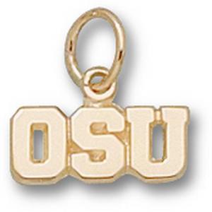 10kt Gold 3/16in Ohio State University OSU Pendant