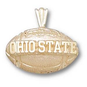 Ohio State Buckeyes 1/2in 10k Football Pendant