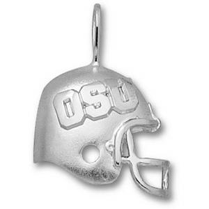 OSU 3/4in Sterling Silver Helmet Pendant