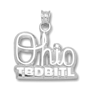 Sterling Silver 1/2in Ohio State TBDBITL Tie Tack