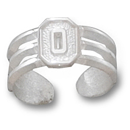 Ohio State Toe Ring Sterling Silver