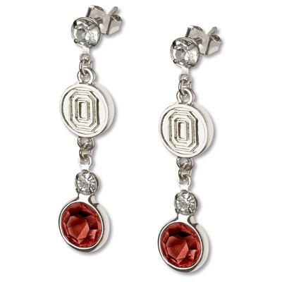 Ohio State University Crystal Logo Earrings
