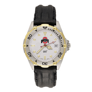 Ohio State Buckeyes Mens All Star Leather Watch