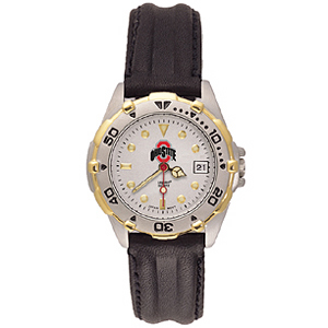 Ohio State Buckeyes Ladies' All Star Leather Watch