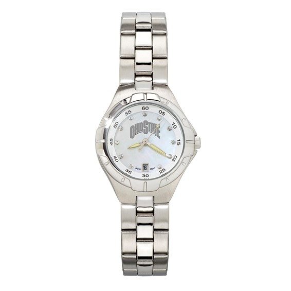 Ohio State University Pearl Dial Woman's Watch
