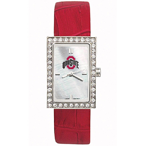 Ohio State Buckeyes Starlette Leather Watch